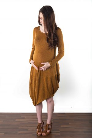 cozy maternity dress