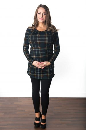 Plaid Maternity Tunic