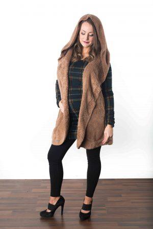 Maternity Fur Vest