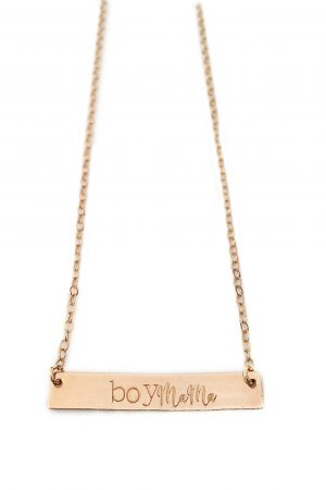 Rose Gold Boy Mama Necklace