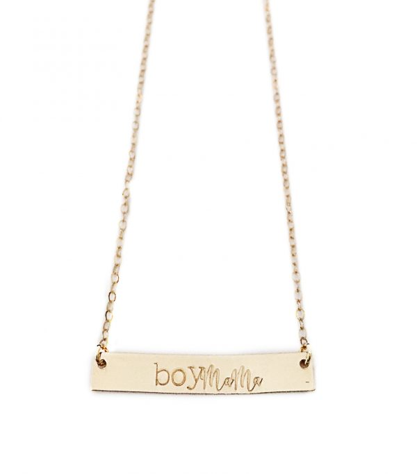 Gold Boy Mama Necklace