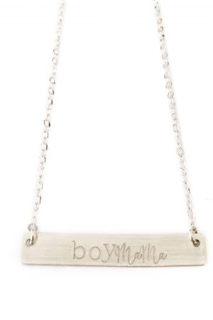 Silver Boy Mama Necklace