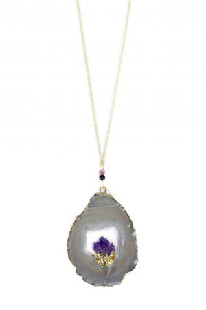 Amethyst Pregnancy Necklace