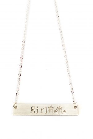 Silver Girl Mama Necklace