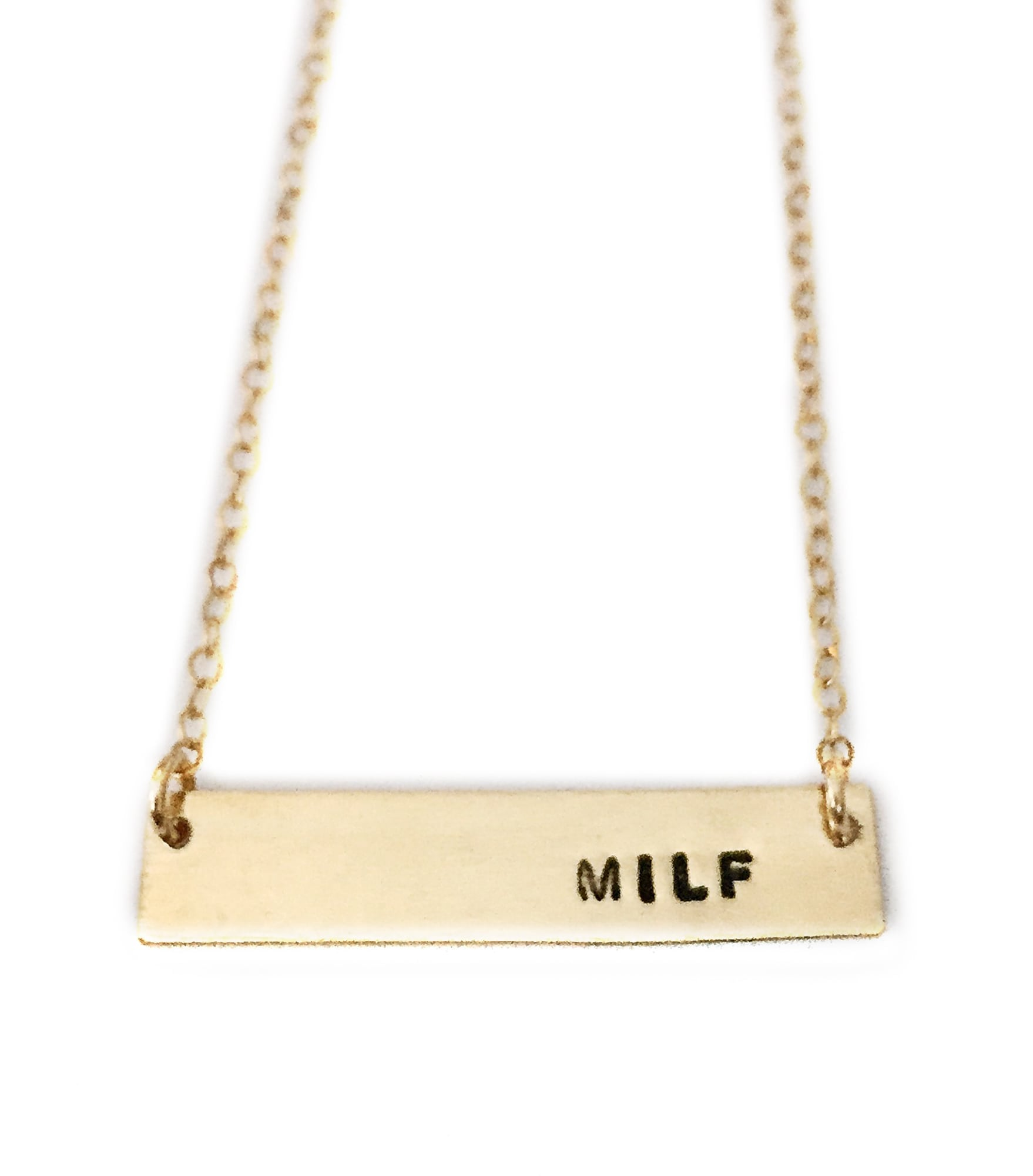 Gold Milf Bar Necklace