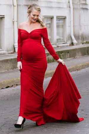 photoshoot maternity gown
