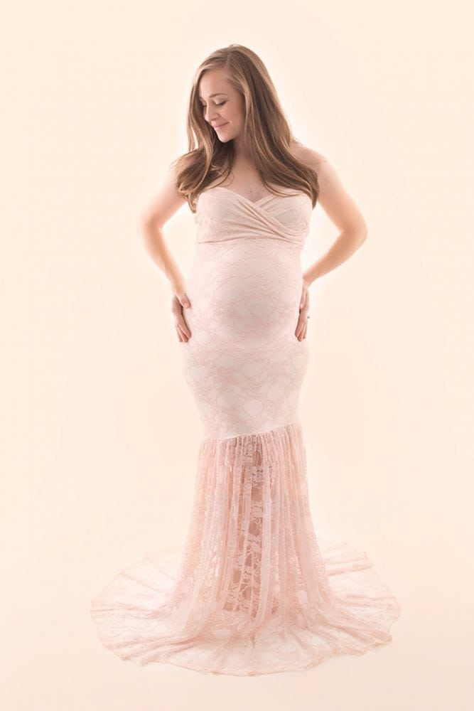 Lace Mermaid Maternity Gown
