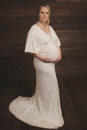 Elegant Maternity Gown