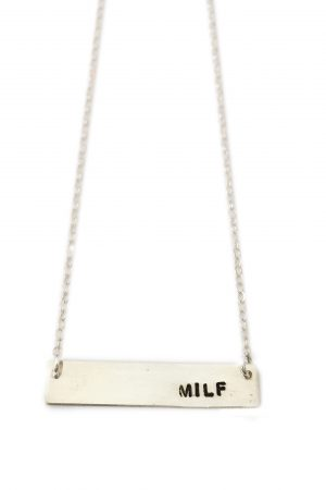 Silver Milf Bar Necklace