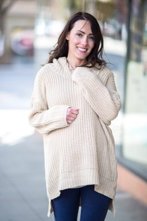 Cream Maternity Sweater