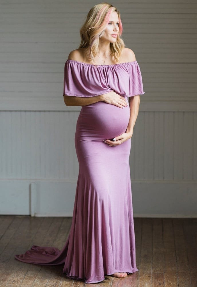 maternity gown with train