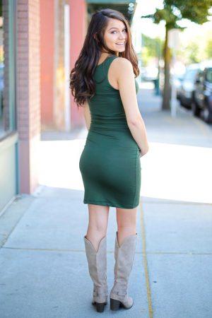v-neck maternity dress