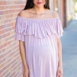 off the shoulder maternity shirt