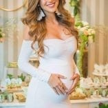 long sleeve baby shower gown
