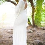 bell sleeve maternity gown