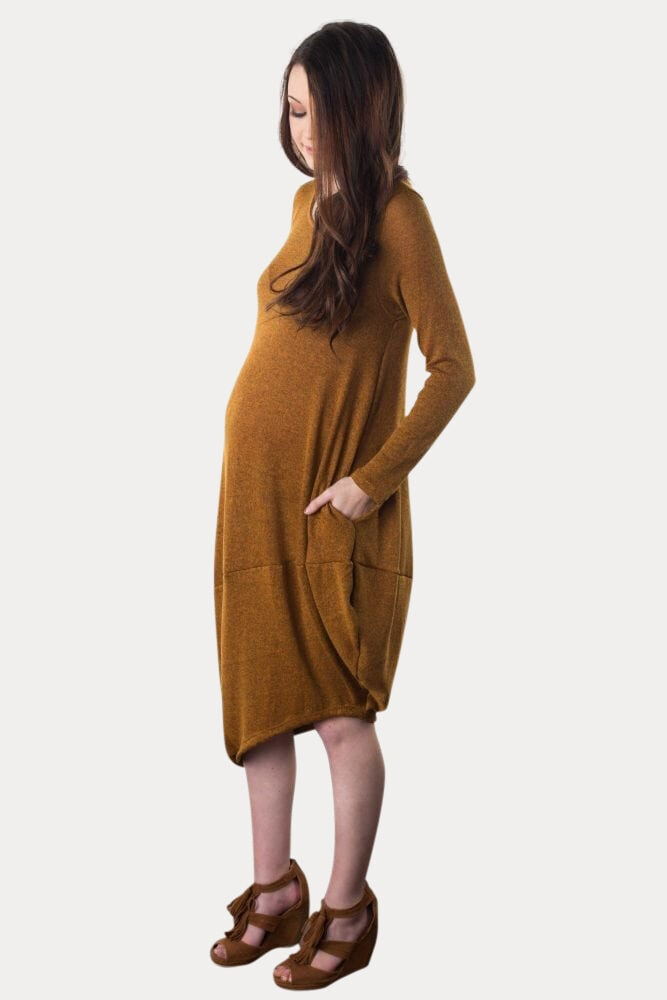 cozy maternity dress