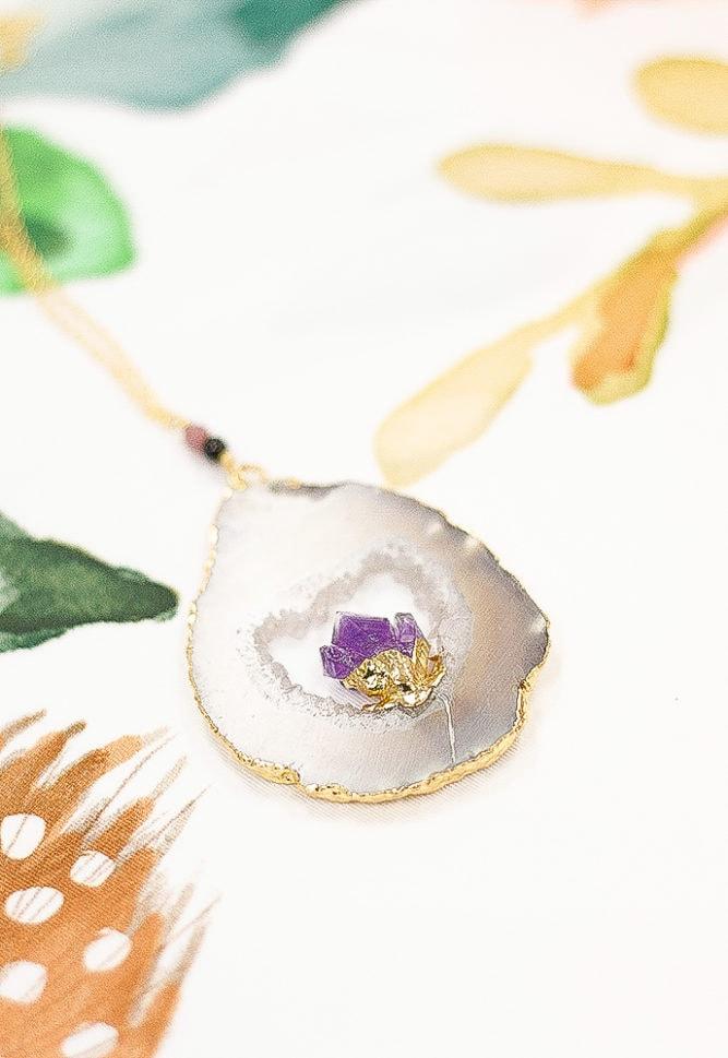 amethyst pregnancy necklace