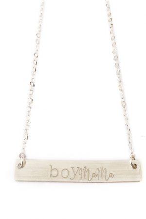 Silver Boy Mama Necklace