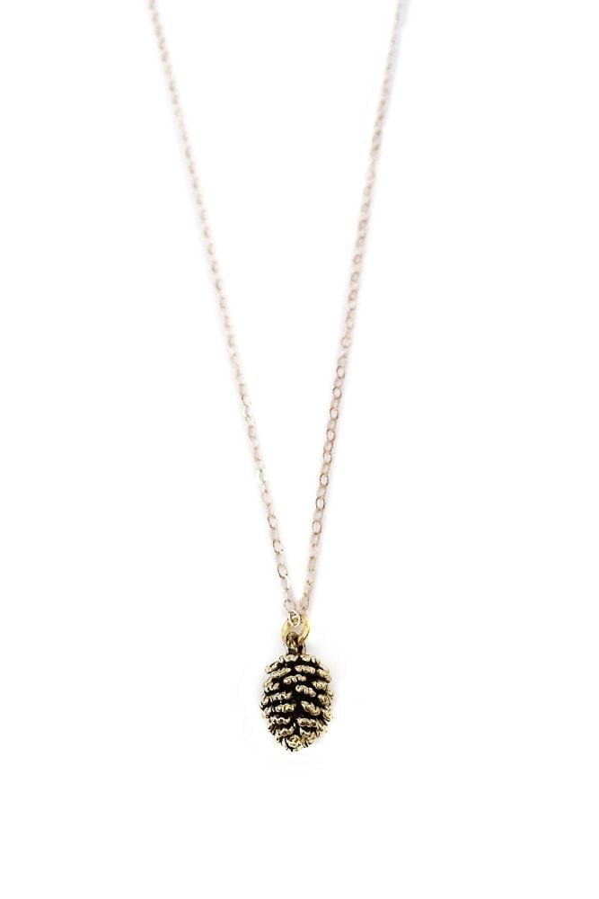 Gold Pinecone Necklace