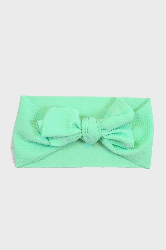 green baby headband