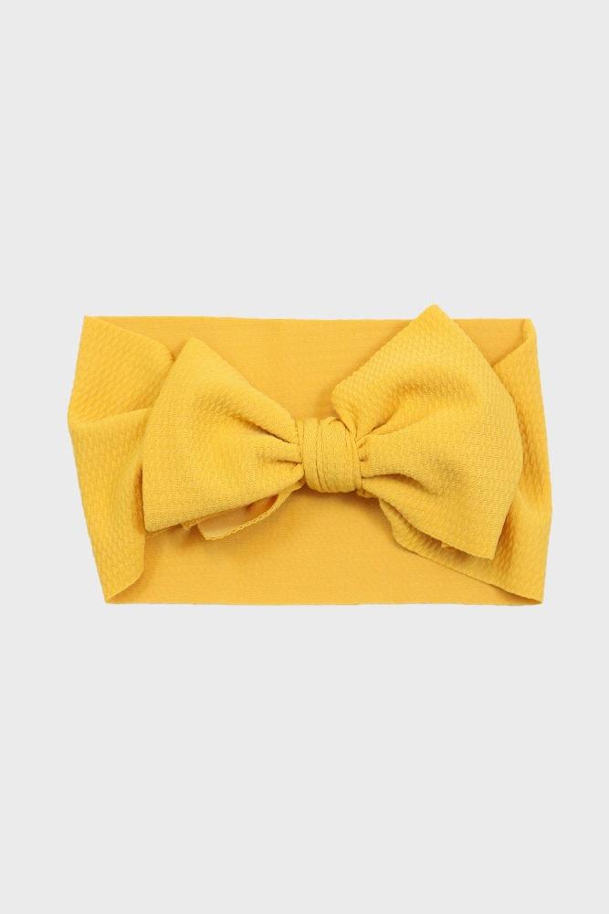 mustard baby headband