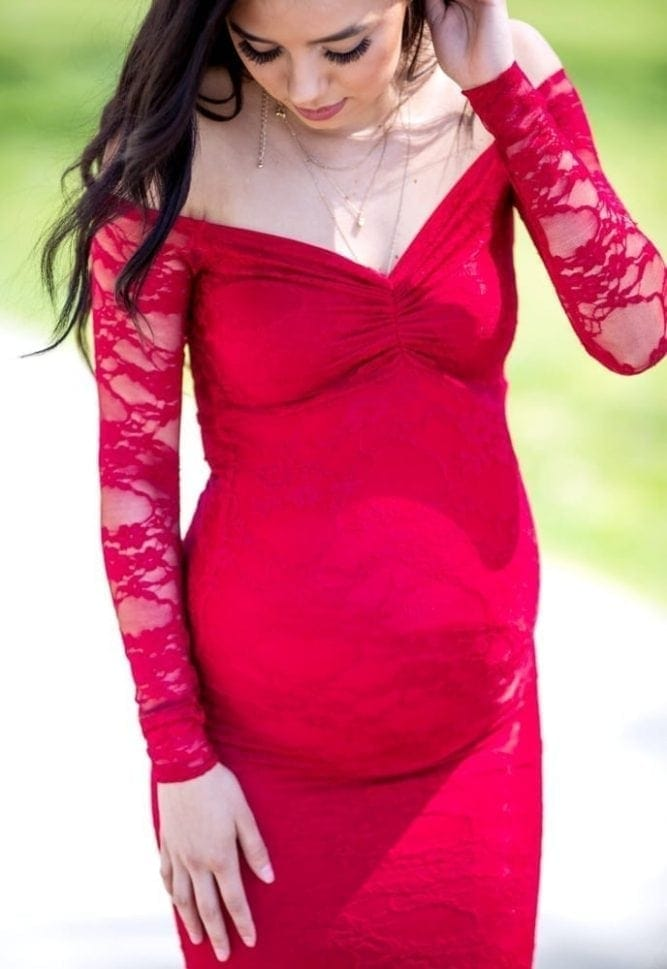 mermaid maternity gown