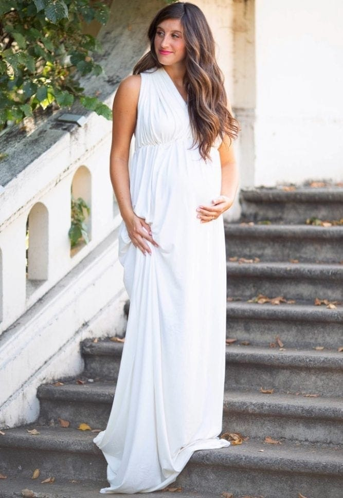 halter maternity gown