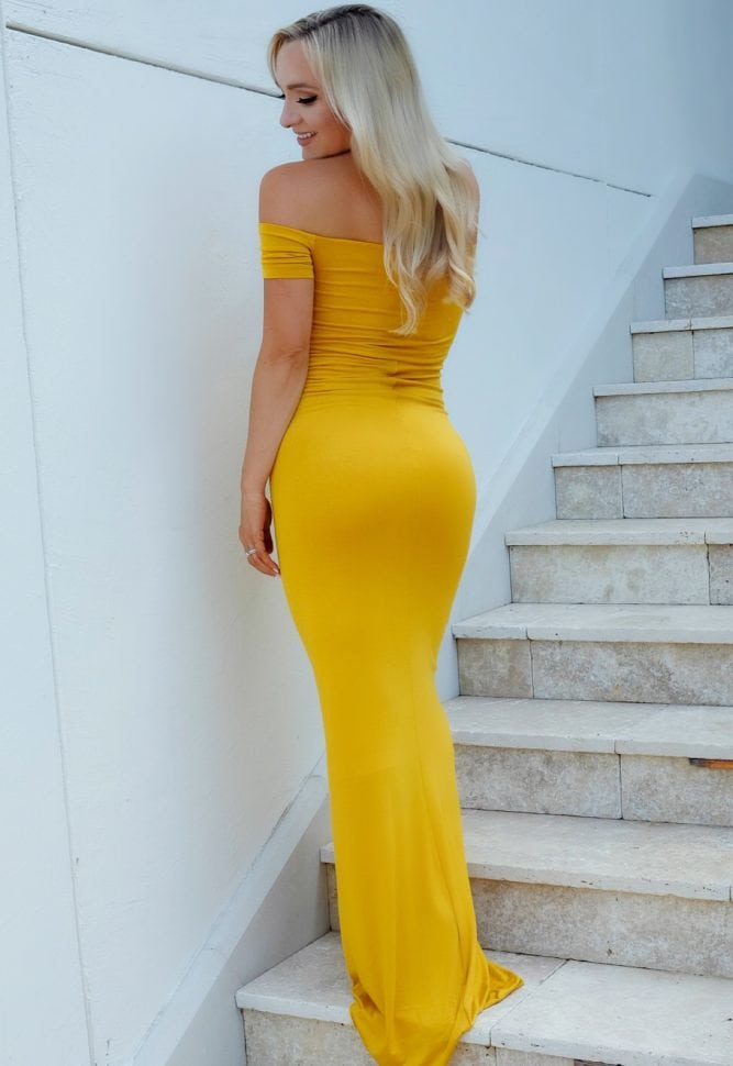 slim fit maternity gown