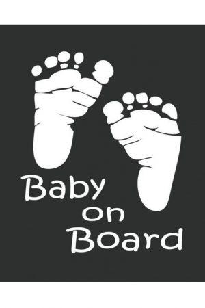 Baby Footprint Car Decal