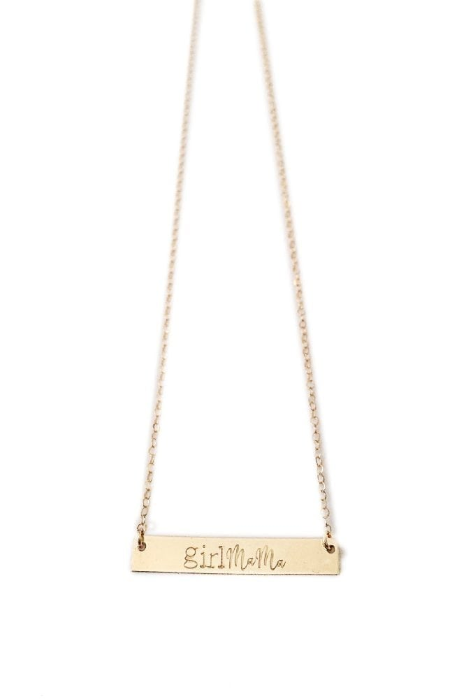 Gold Girl Mama Necklace