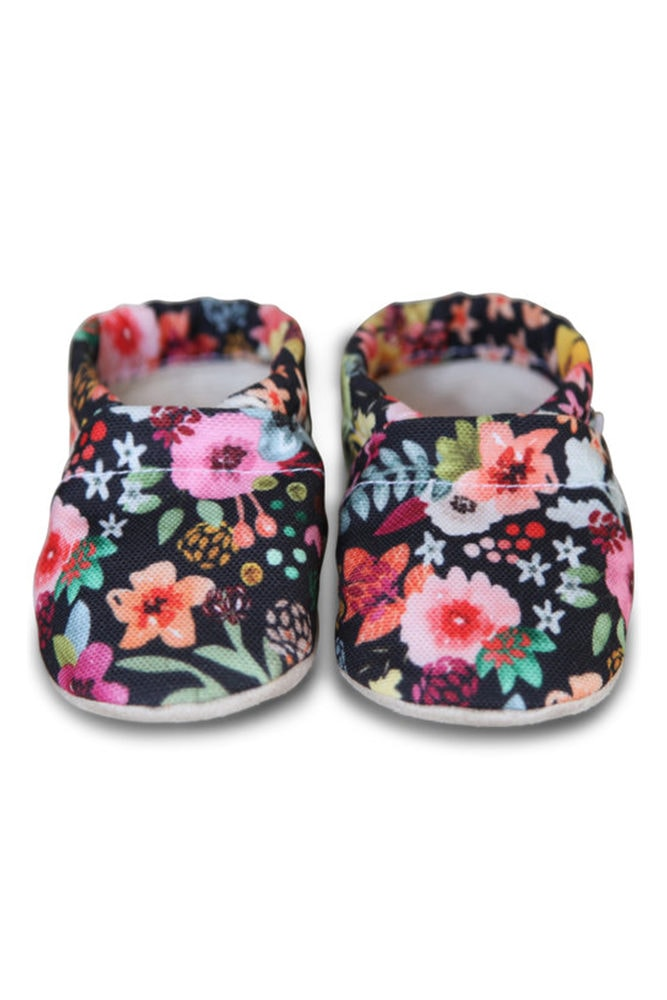 bright floral baby shoes