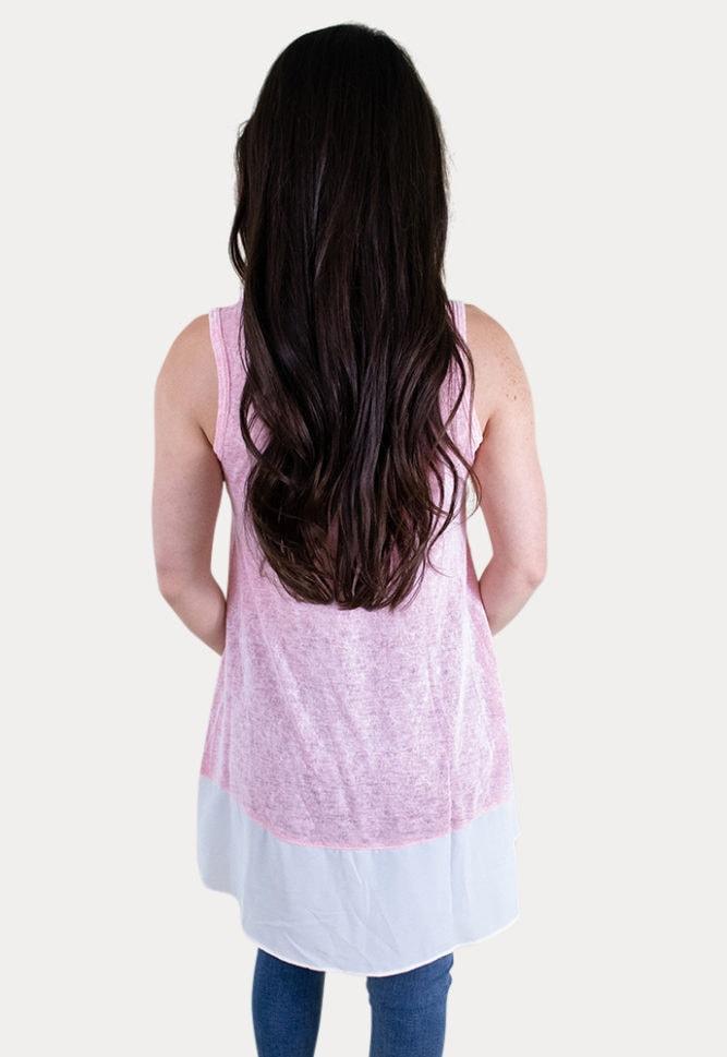 pink maternity tank top