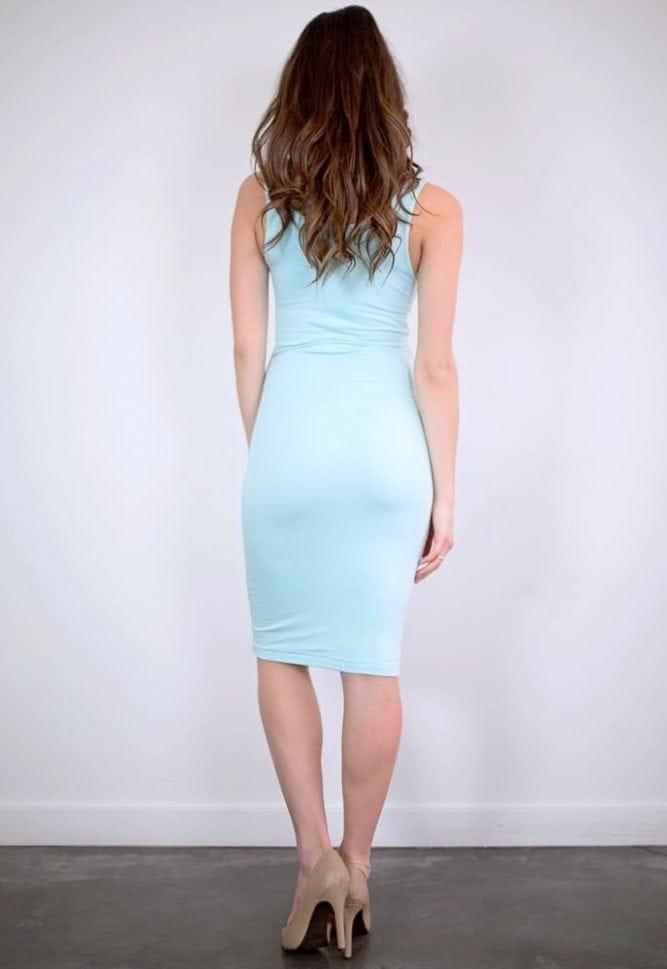midi maternity dress