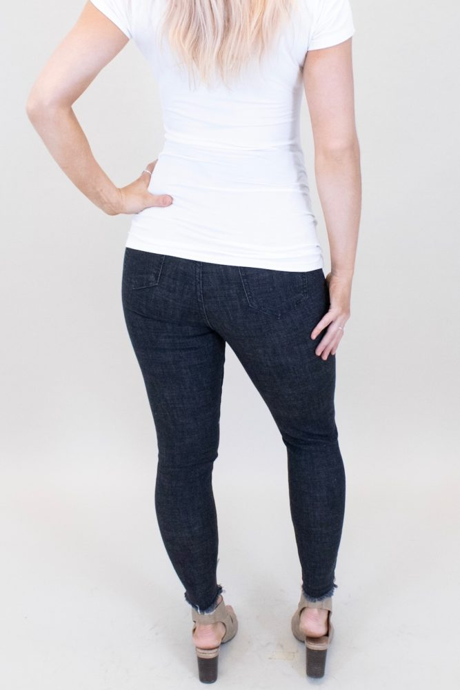 black skinny maternity jeans