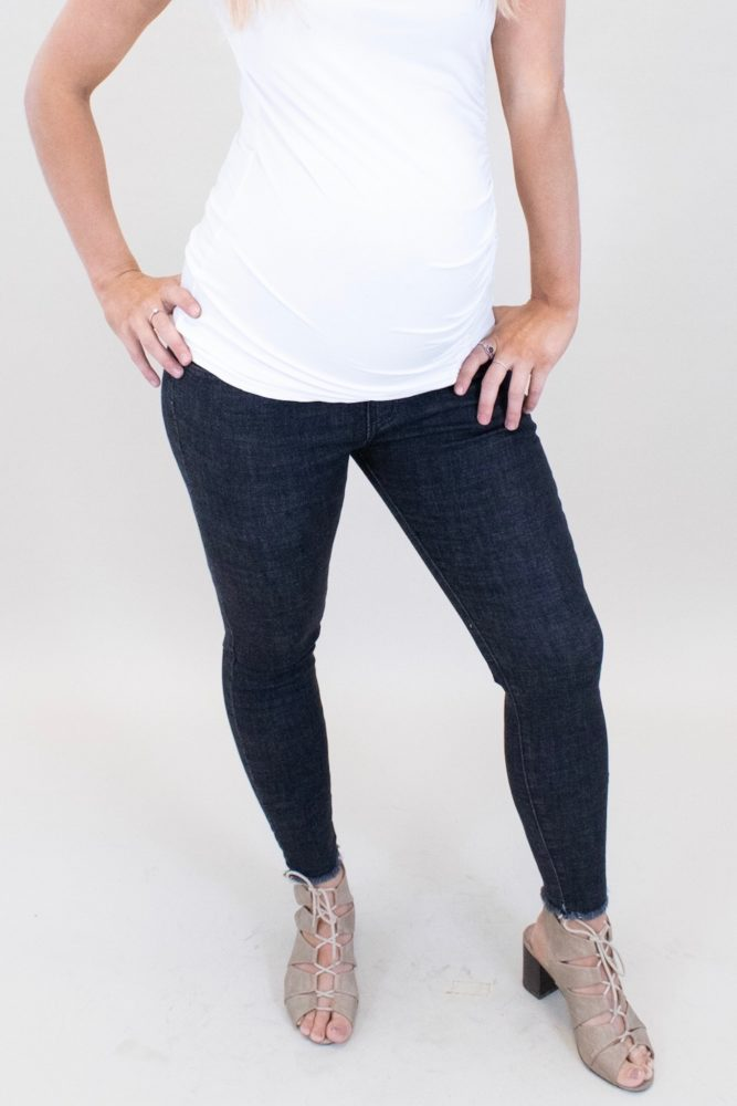 skinny black maternity jeans