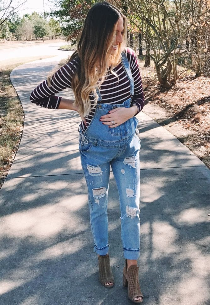 denim maternity overalls