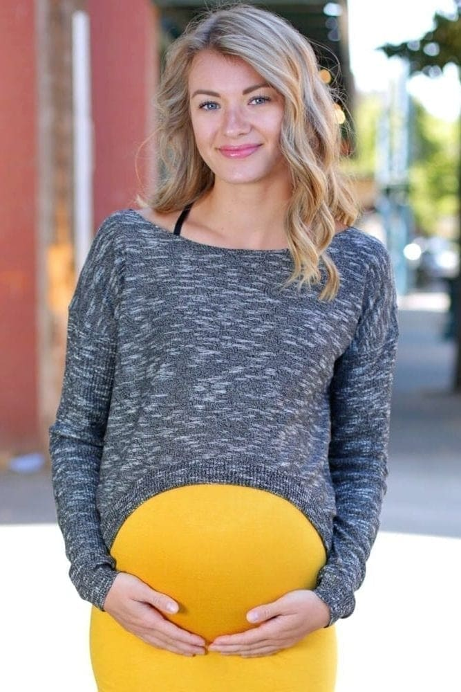 maternity crop top