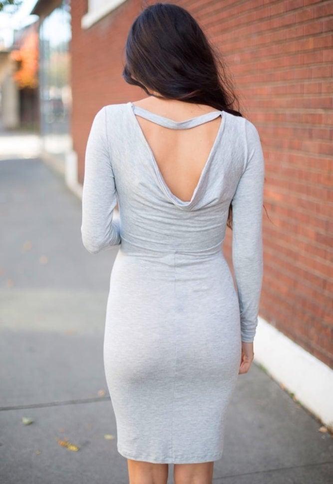 reversible cowl dress
