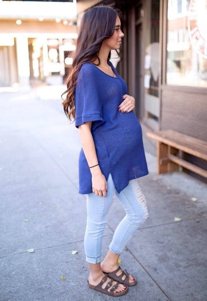 slouchy maternity sweater