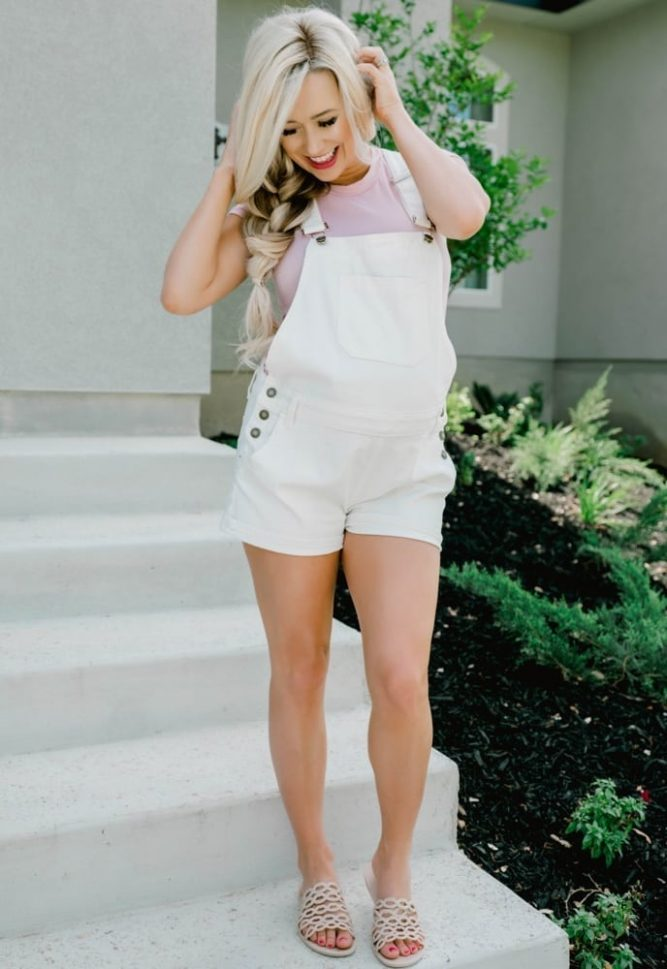 maternity shorts overalls