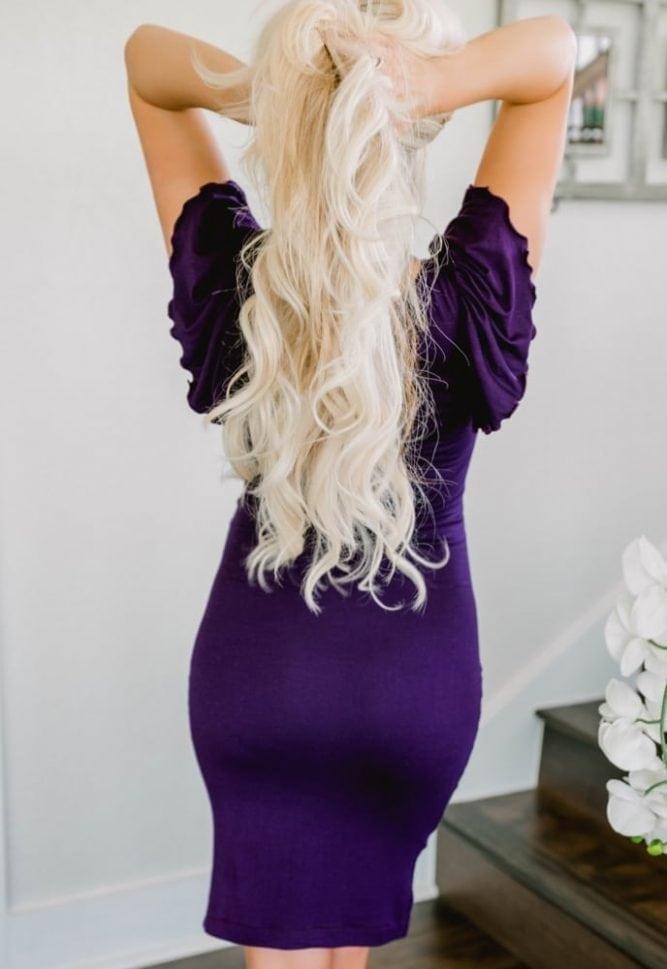 ruffle sleeve maternity dress