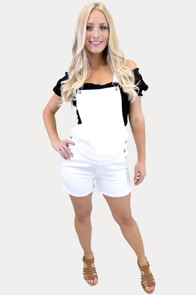 maternity shorts overalls