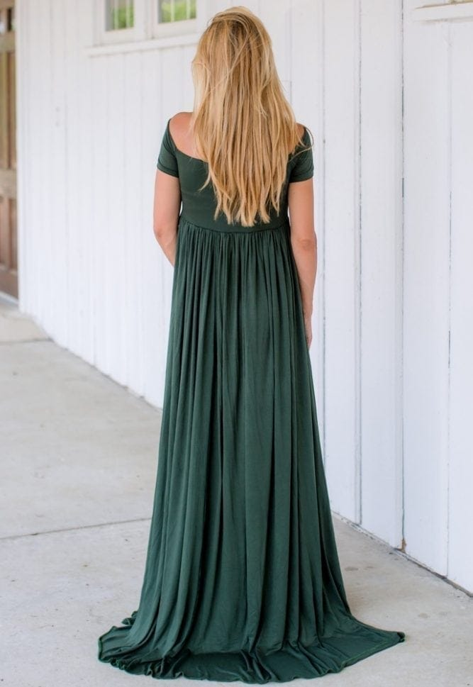 open maternity photoshoot gown