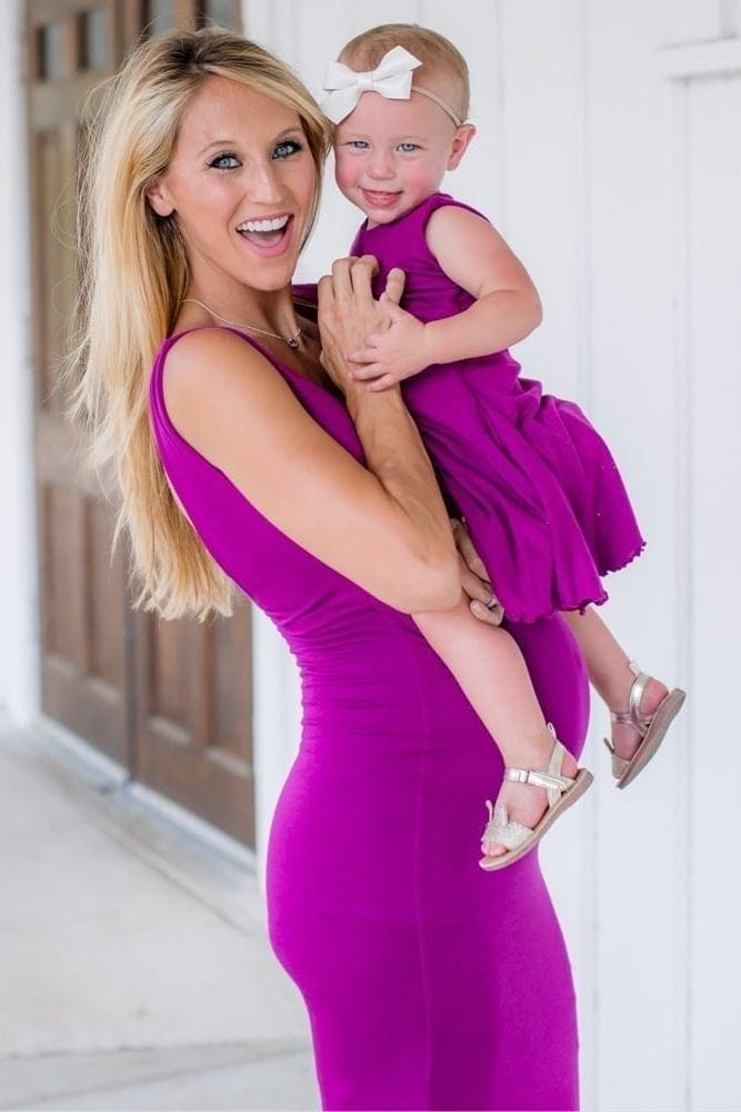 mommy and me maternity gown