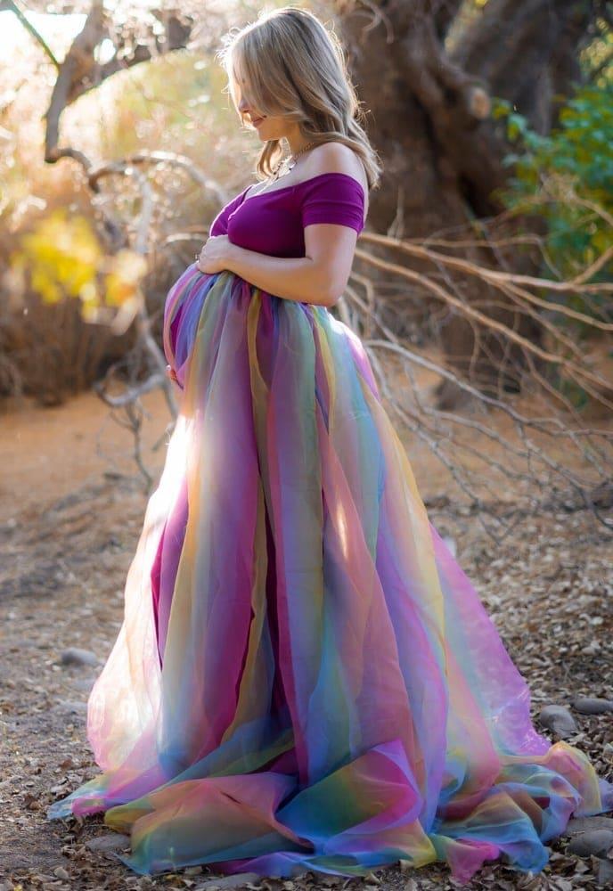 367efb2a9e4 Rainbow Baby Gown - Sexy Mama Maternity