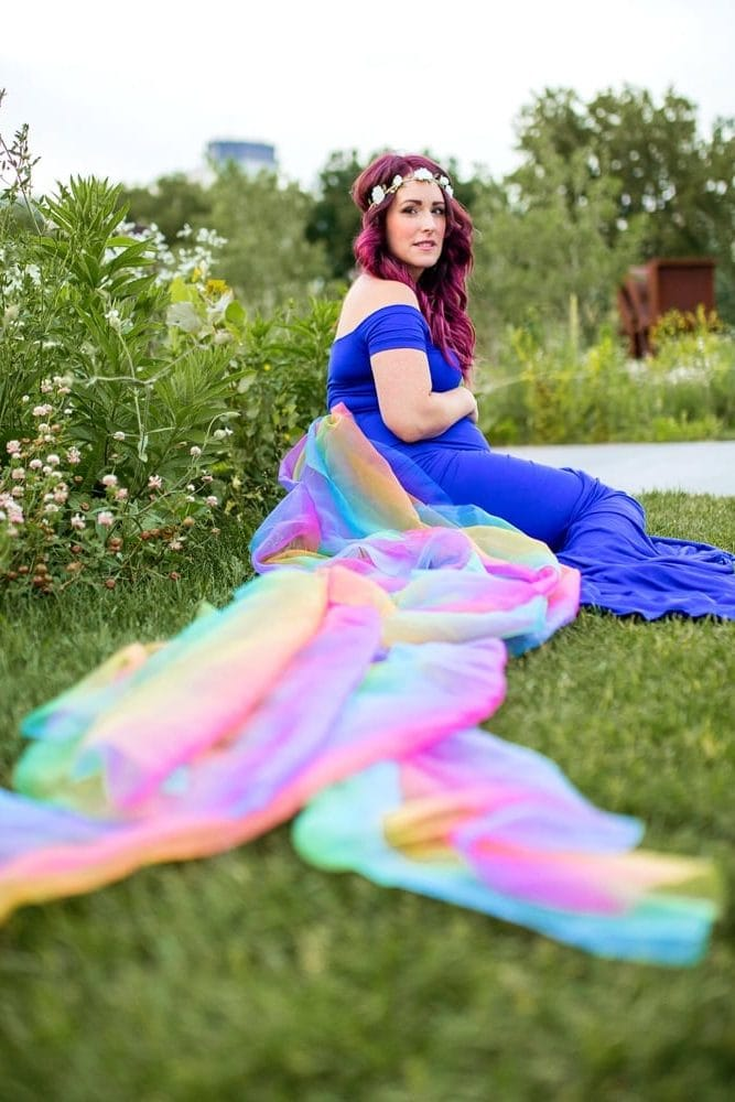 Rainbow Baby Pregnancy Gown