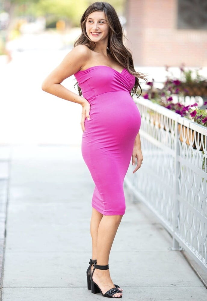 Sweetheart Tube Top Maternity Dress - Sexy Mama Maternity