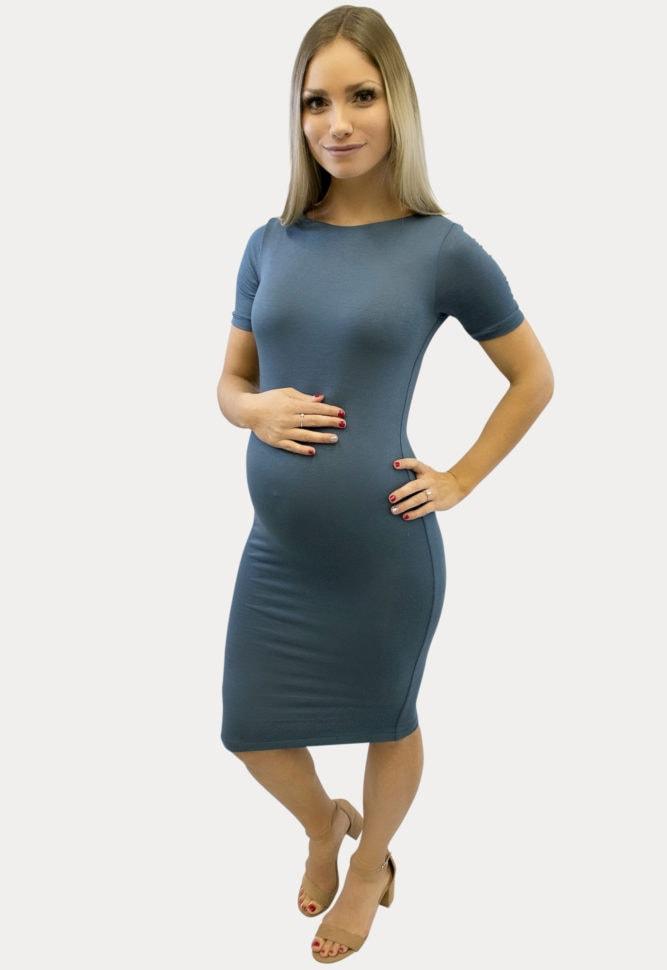 knee length maternity dress
