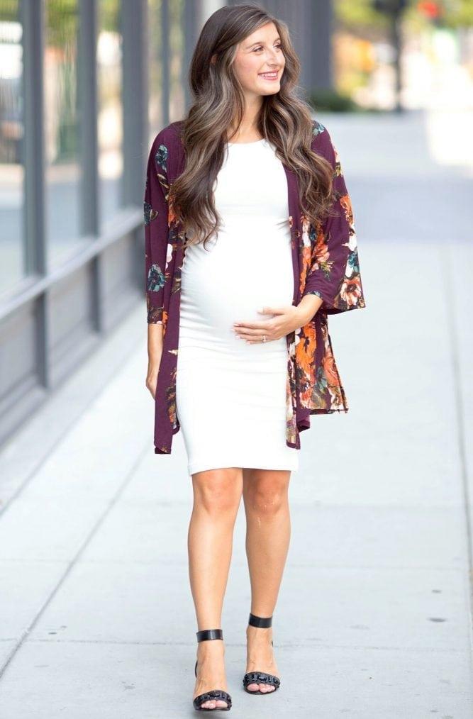 boat neck maternity dress