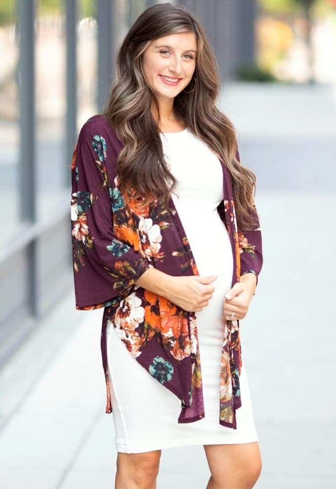 12eac0d64be lightweight maternity kimono Floral Kimono in Olive  44.00. pregnancy kimono